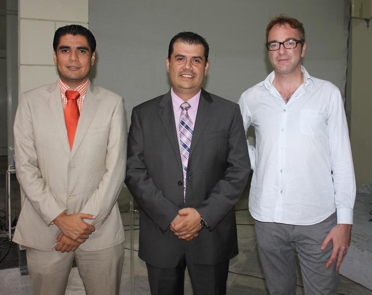 Othón Quiroga García, Presidente del Colegio flanqueado por los dos ponentes: Jorge Escobedo Hernández y Thorstem Matthias Englert